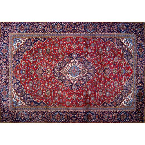 Isabelline One-of-a-Kind Pitchford Hand-Knotted 9' x 12'9'' Red/Purple Area Rug