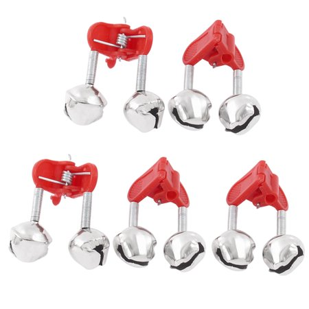 Unique Bargains 5pcs Fishing Rod Clamp Tip Fish Bite Alert Clip Twin Bells Alarm Ring Around Twin Tip Skis