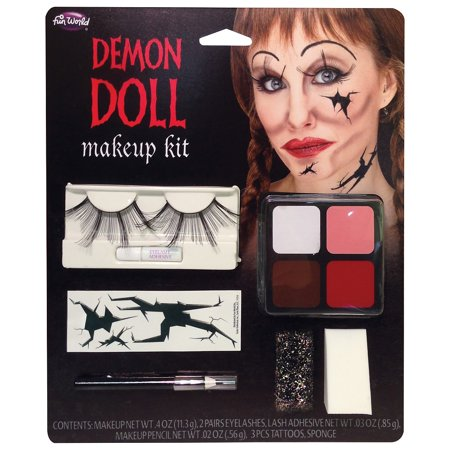 Demon Makeup Ideas (Demon Doll Makeup Kit Adult Costume)