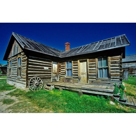 Old building in Ghost Town near Virginia City, MT Print Wall Art - Party City In Virginia