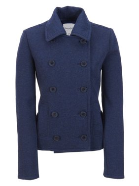 Aeropostale Juniors Solid Fleece Pea Coat