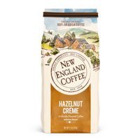 New England Coffee Ground Coffee, Hazelnut Creme, 11 Oz