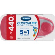 Dr. Scholl's Custom Fit CF440 Orthotic Shoe Inserts for Foot, Knee and Lower Back Relief, 1 Pair