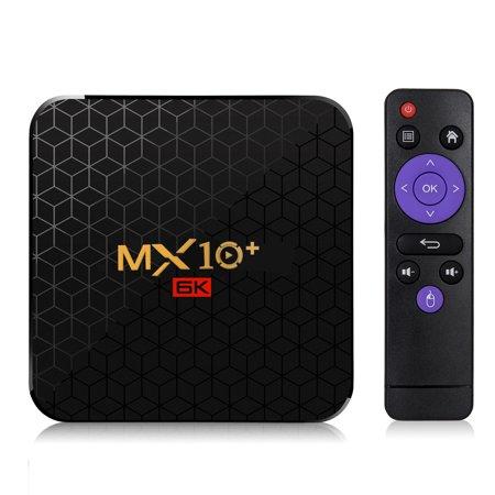 MX10+ Intelligent STB Set Top Box 6K Wifi TV Receiver Network TV Set-top Box Android 9 ALLWINNER H6 4096 * 2160 4GB RAM 64GB ROM 2.4G/5G WIFI BT