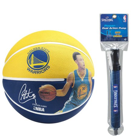 Spalding NBA Stephen Curry Player Basketball with Dual Action