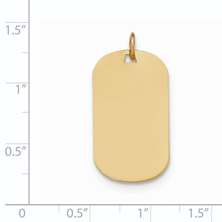 14K Yellow Gold Plain .011 Gauge Engraveable Dog Tag Disc Charm - image 1 of 2
