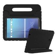 Galaxy Tab E 9.6 Case, KIQ Kid-friendly Tablet Case For Kids, Heavy Duty EVA Foam Rugged Drop Protection Case Cover Stand Handle For Samsung Galaxy Tab E 9.6 SM-T560 (Black)