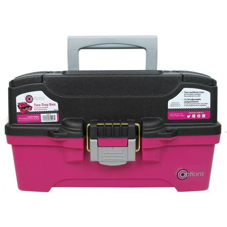 - Creative Options Organizer Box Two Tray Magenta/Gy