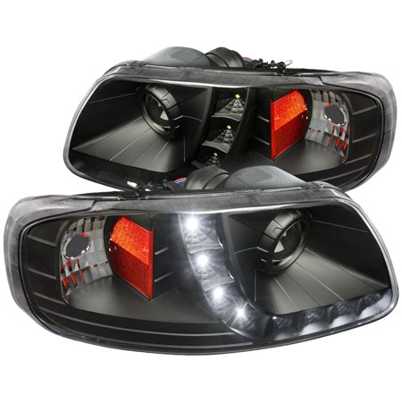 Spec-D Tuning 1997-2003 Ford F150 Expedition Black Projector Headlights W/ Led Lamps 1997 1998 1999 2000 2001 2002 2003 (Left +