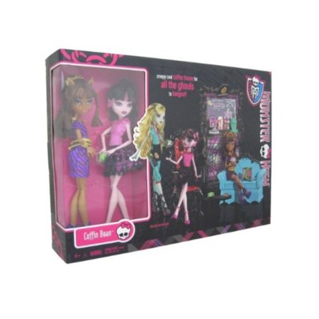 monster high exclusive clawdeen wolf and draculaura coffin bean play set](Clawdeen Wolf)