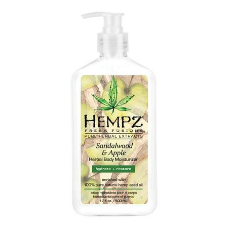 Hempz Fresh Fusions Sandalwood & Apple Herbal Body Moisturizer, Size: 17Oz