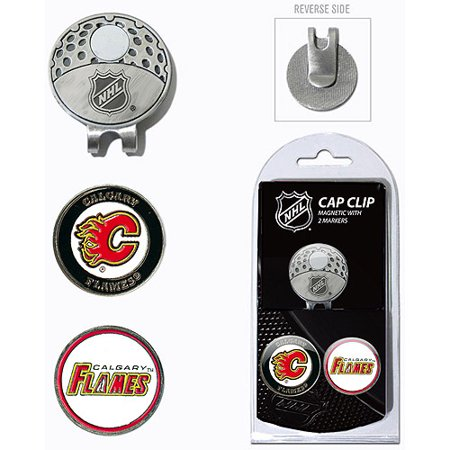 Team Golf NHL Calgary Flames Cap Clip With 2 Golf Ball Markers