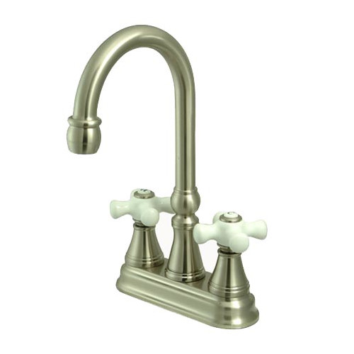 "Kingston Brass Governor Two Handle 4"" Centerset Bar Faucet without Pop-Up Rod"