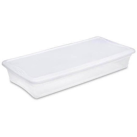 Sterilite 19608006 41 Quart Under Bed Latch Tote Storage Box Containers (6 Pack) ()
