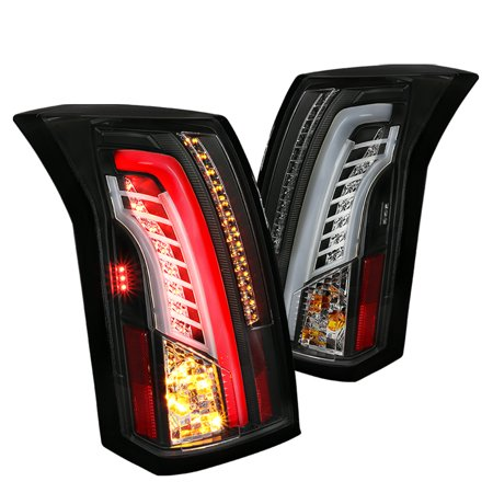 Spec-D Tuning 2003-2007 Cadillac Cts Black Clear Led Bar Tail Lights Brake Lamps (Left + Right) 2003 2004 2005 2006 2007 2006 Cadillac Cts Base