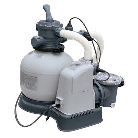 Intex 1600 Gph Saltwater System Sand Filter Pump Swimming Pool Set 56677eg