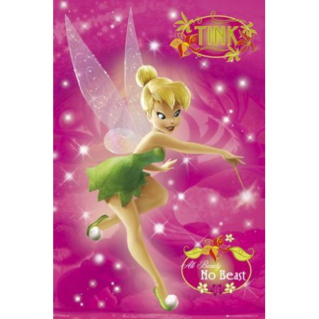 Disney Tinkerbell Poster - Pink Sky - New 24x36 (Tinkerbell Room Decor)