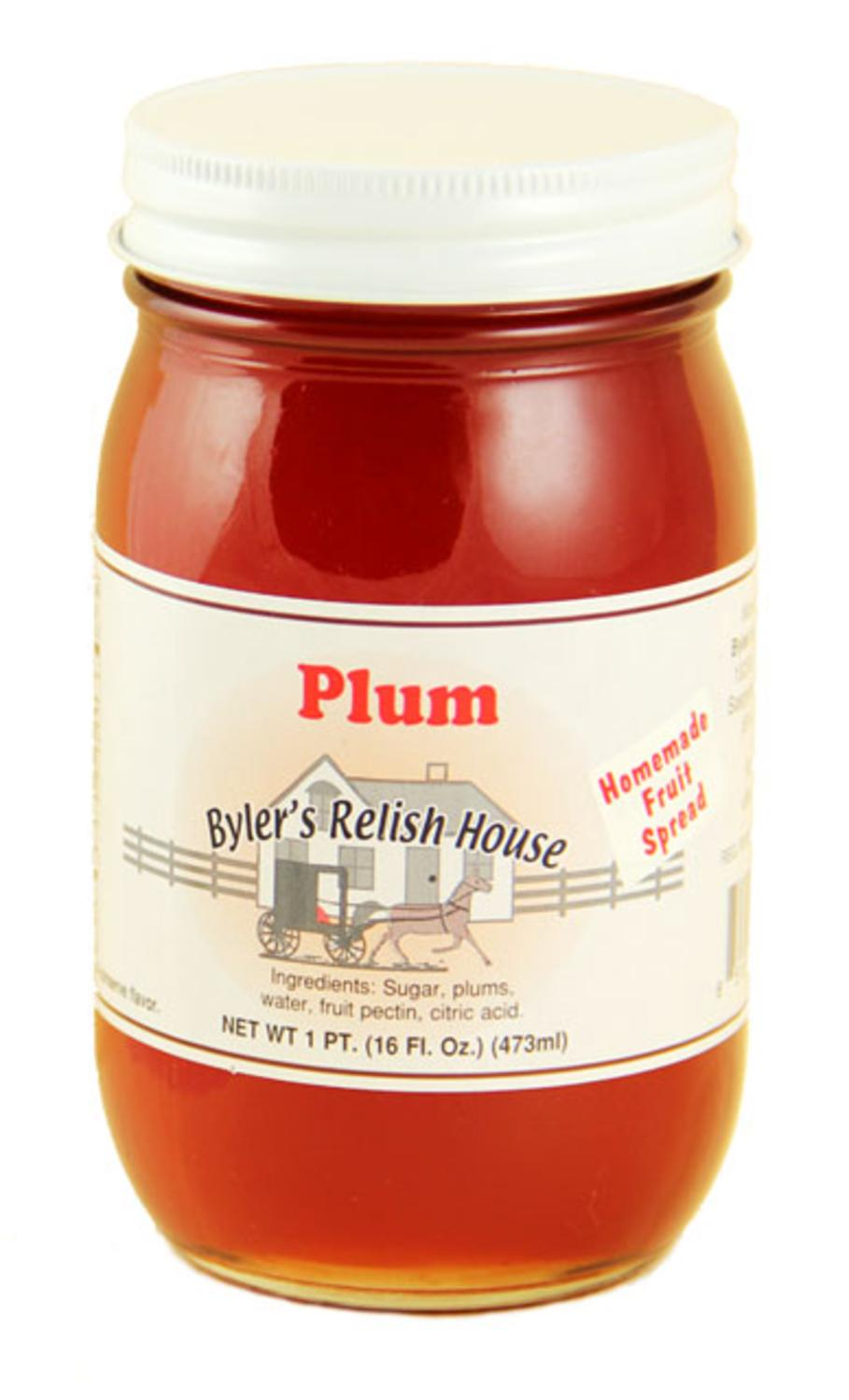 Byler's Relish House Homemade Amish Country Plum Jam Fruit Spread 16 oz. by Byler's Relish House