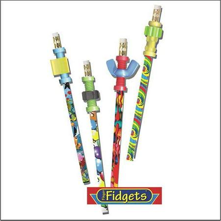 Pencils With Fidget Toppers - Pencil Fidgets