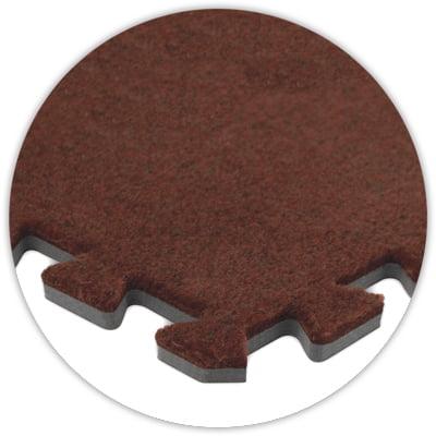 Premium SoftCarpet Flooring, 10'x10' Floor, Burgundy, 5/8...