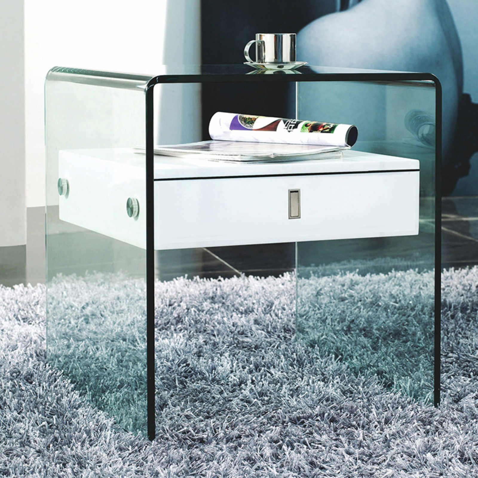 Casabianca Home Bari 1 Drawer Nightstand
