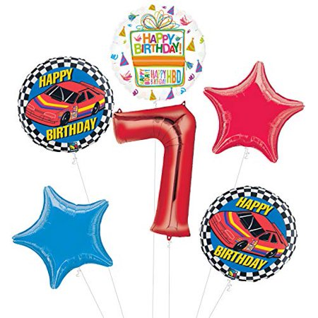 Race Car 7th Birthday Party Supplies Stock Balloon Bouquet Decorations