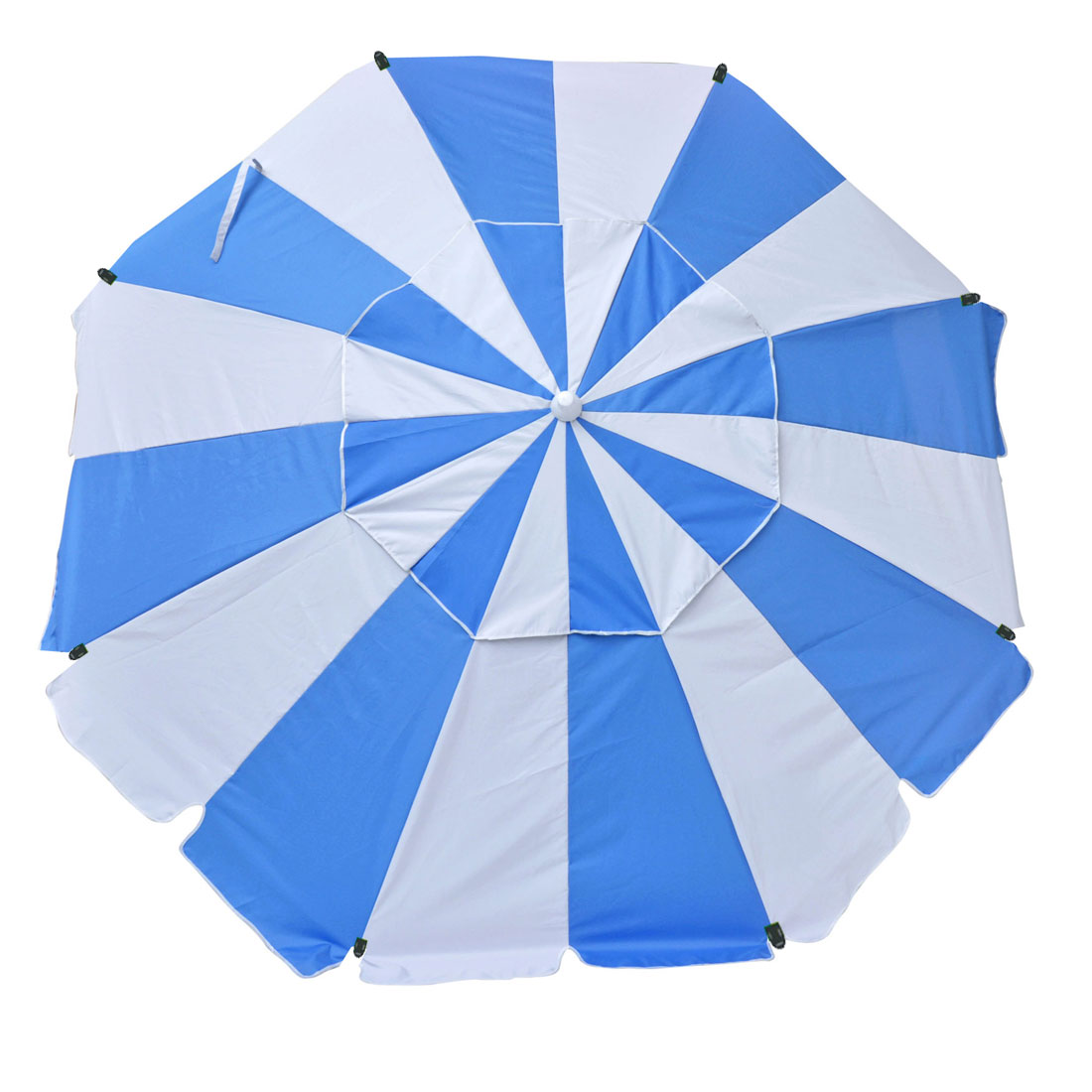 7 ft Platinum Heavy Duty Beach Umbrella with Reinforced Fiberglass Ribs, Carry Bag, Accessory Hanging Hook, UPF100
