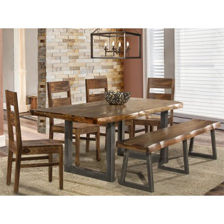 Hillsdale Emerson 6 Piece Dining Set in Natural (Hillsdale Dining Room Bed)