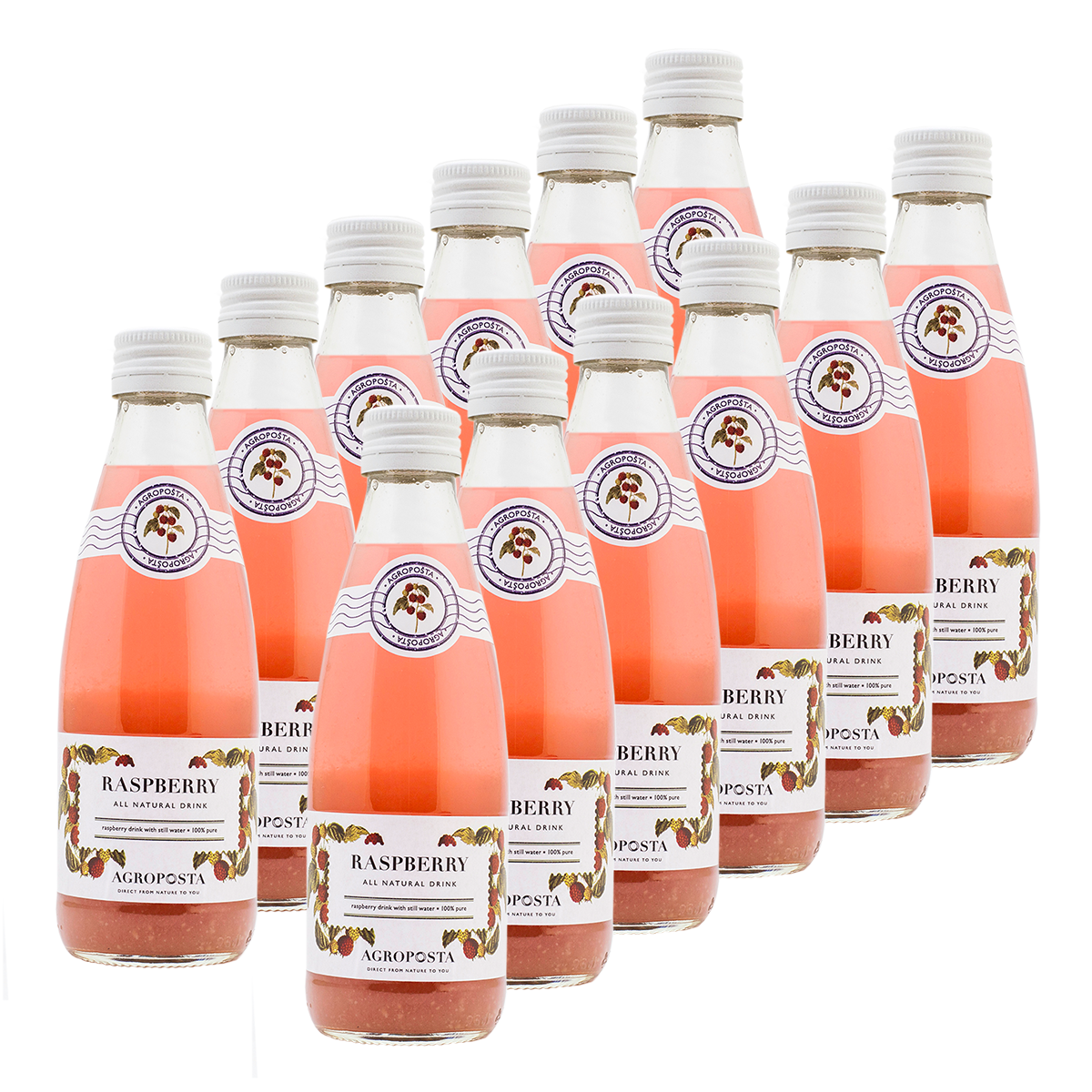 Image of AgropoÅ!ta: 100% Pure, All-Natural, Guilt-Free Drinks, Flavored Water, Raspberry