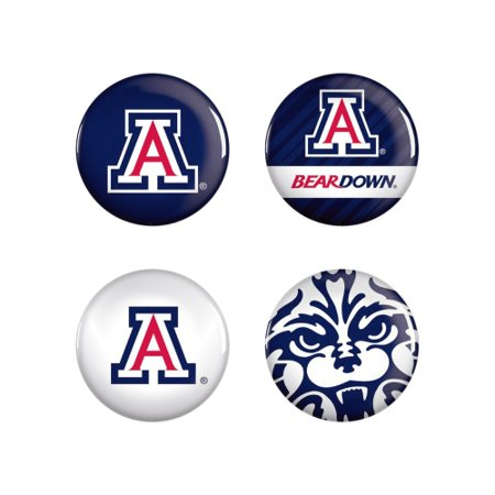 Arizona Wildcats WinCraft 4-Pack Button Set - No Size ()