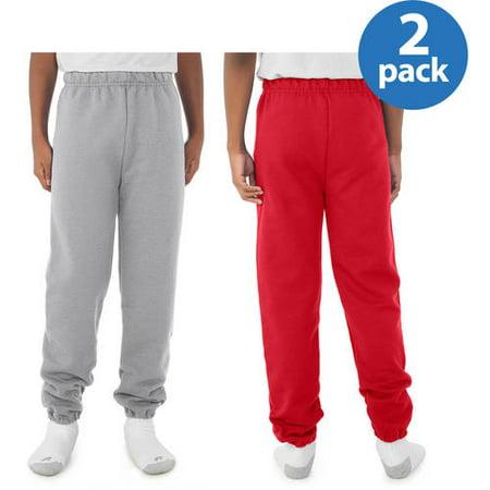 - Jerzees Boys Pill-Resistant Fleece Sweatpants, Your Choice 2-Pack