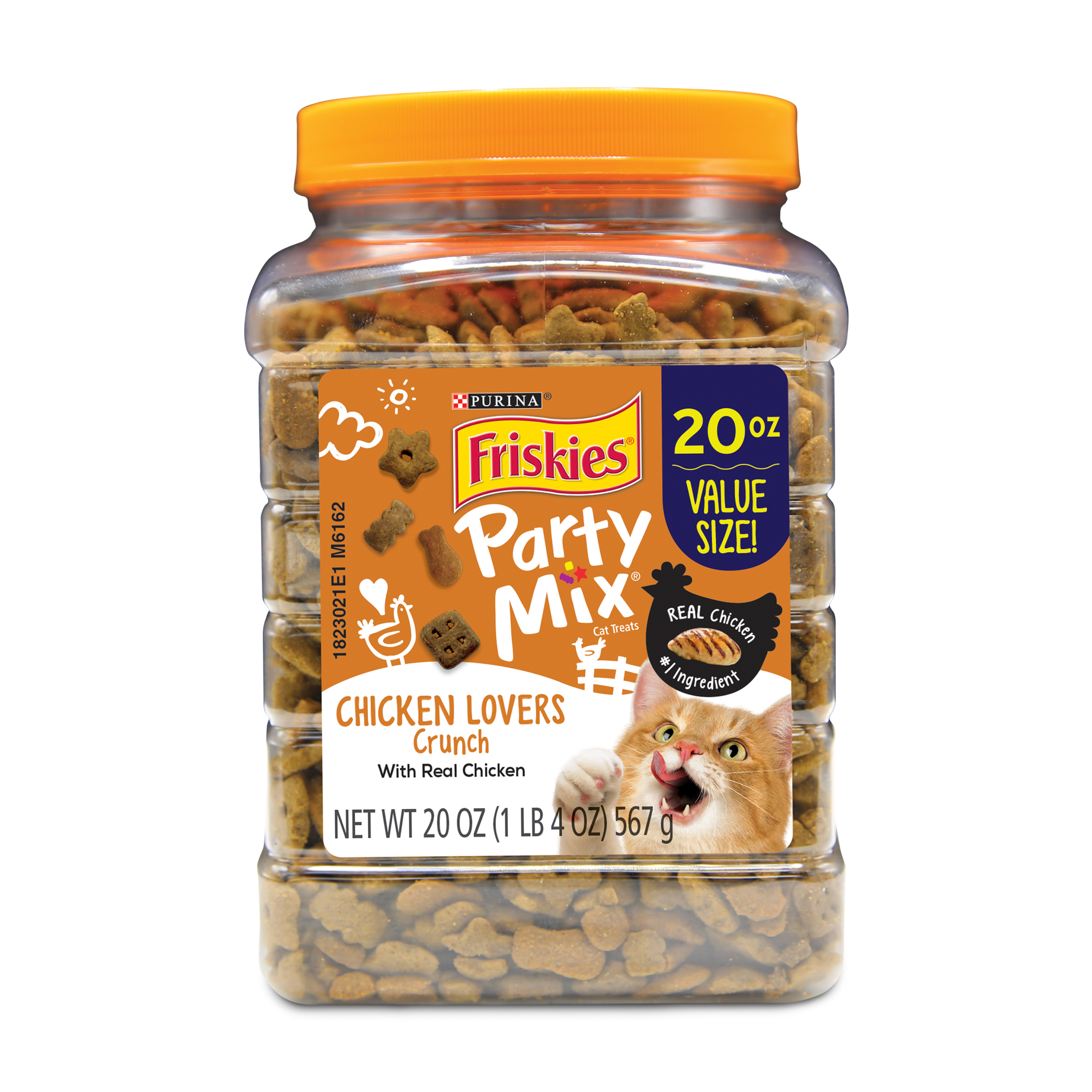 Purina Friskies Party Mix Crunch Chicken Lovers Cat Treats 20 oz. Canister by Nestle Purina Petcare Company