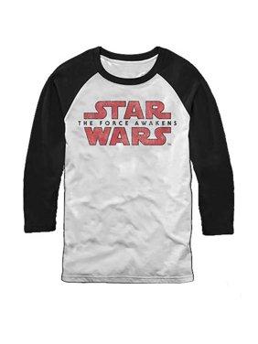 4a1bc069 Product Image Star Wars Force Awakens Logo Baseball Jersey LONGSLEEVE T- Shirt (S). Cyberteez