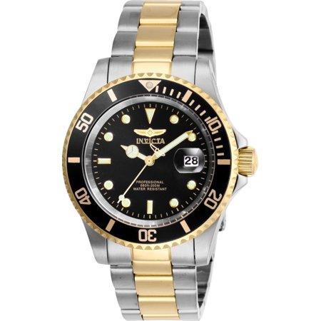 - Invicta Men's 26973 Pro Diver Quartz 3 Hand Black Dial Watch