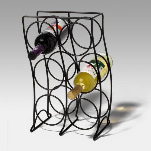 Spectrum Curve 6-Bottle Wine Rack - Black
