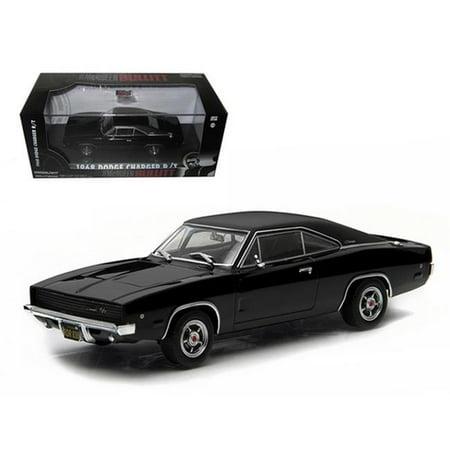 1968 Dodge Charger Black R/T Steve McQueen \Bullitt\ Movie (1968) 1/43 Diecast Model Car by Greenlight (Persol Sonnenbrille Steve Mcqueen)