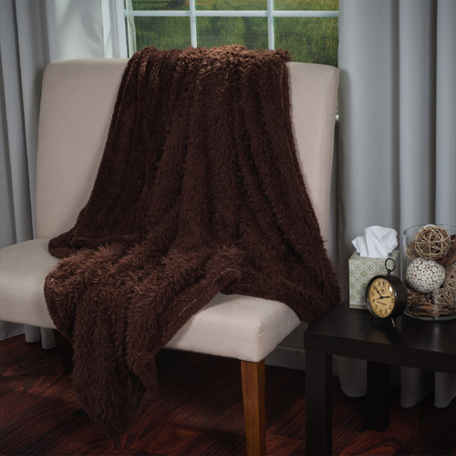 Somerset Home Solid Soft Plush Sherpa Fleece Throw Blanket