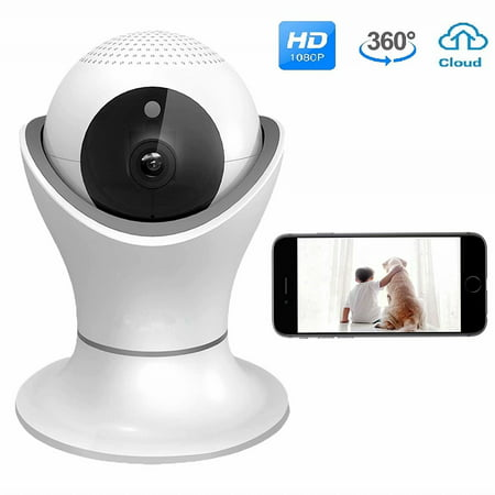 SUNZEO WiFi IP Camera 1080P HD Wireless Camera Baby Pet Monitor Surveillance Home Security Camera Nanny IP Cam Pan/Tilt Motion Detection Two-Way Audio Night Vision Wireless IP