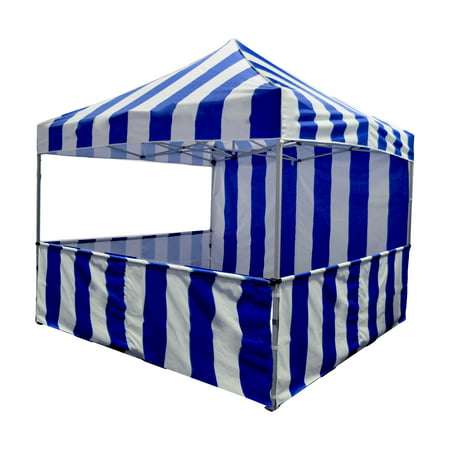 Impact Canopy Carnival Booth Kit 10' x 10' Vendor Booth Blue & White](Carnival Booths)