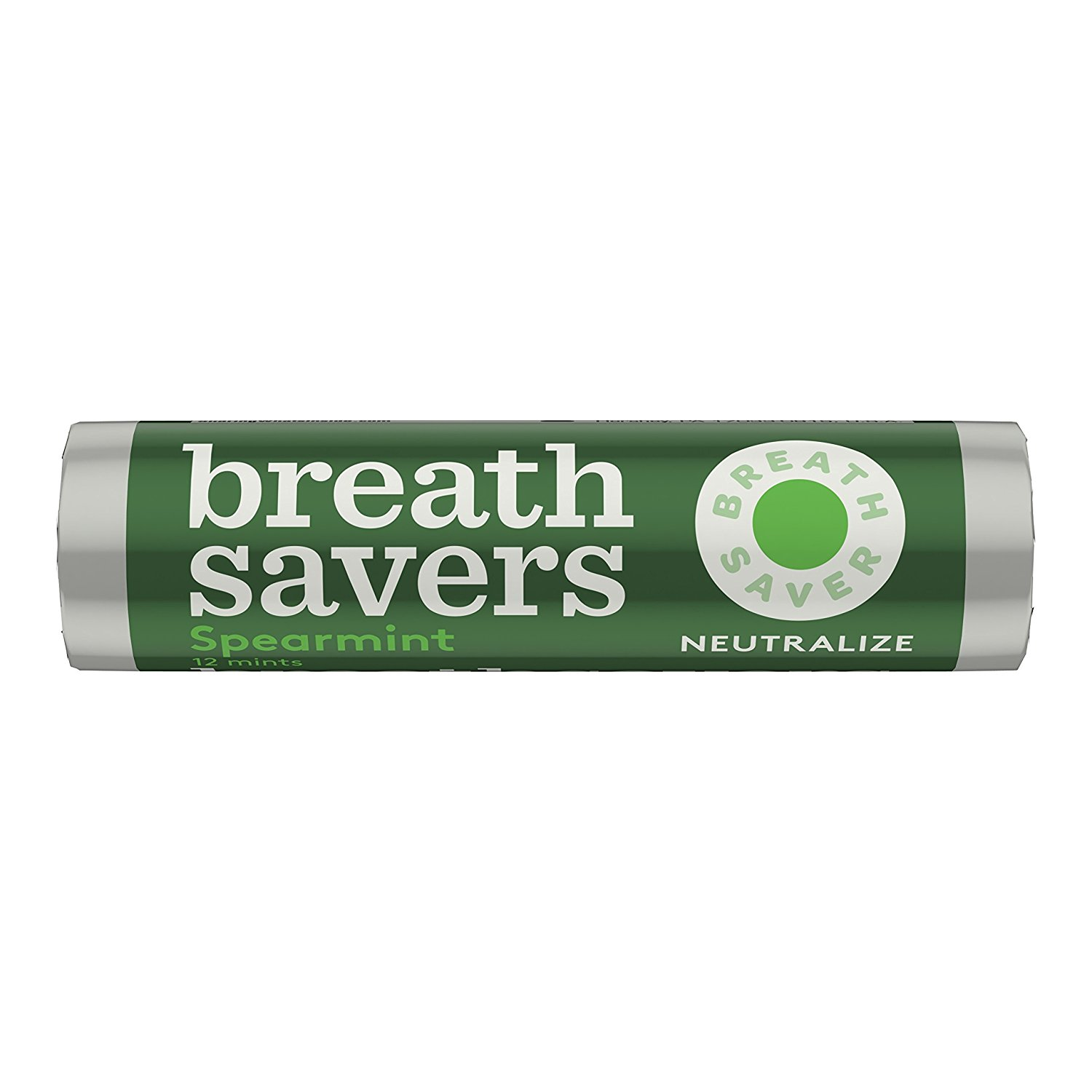 BREATH SAVERS Mints, Spearmint, Sugar Free, 0.75 Ounce Roll (Pack of 24) by