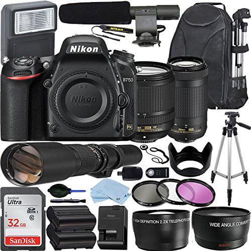 Nikon D750 DSLR Camera with AF-S DX NIKKOR 18-140mm + 70-300mm Nikkor...