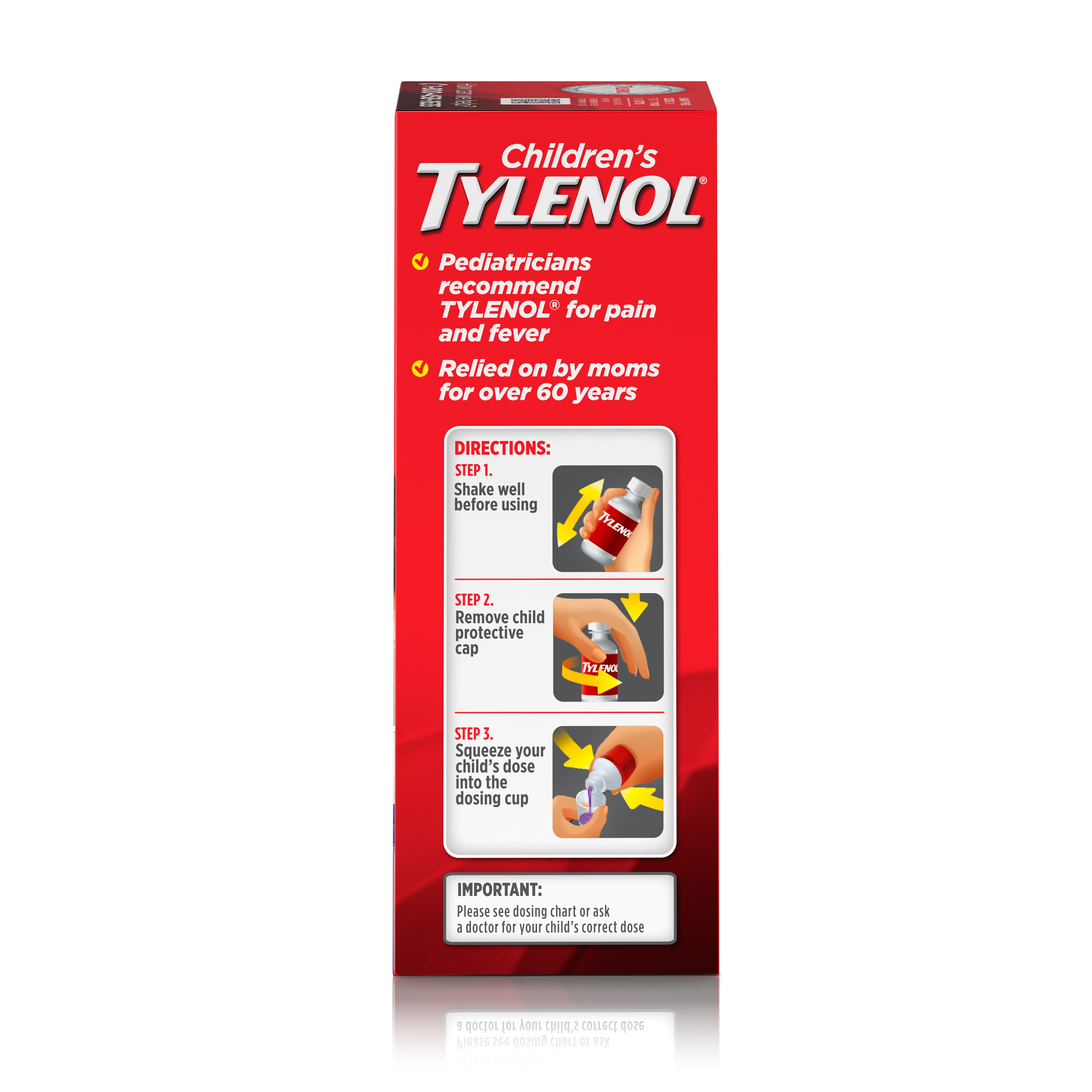 Childrens Tylenol Oral Suspension Fever Reducer And Pain Reliever