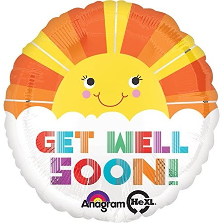 anagram international hx get well soon smiley sunshine balloon, multicolor](Get Well Soon Ballon)