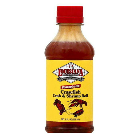 Louisiana Concentrated Crawfish Shrimp & Crab Boil, 8 OZ (Pack of