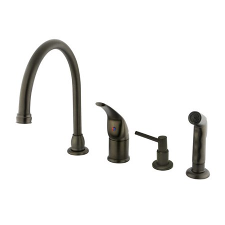 Kingston Brass Chatham Single Handle Kitchen Faucet with Side Spray