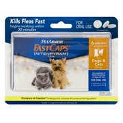 PetArmor FastCaps Oral Flea Tablets for Dogs and Cats, 2-25 lbs, 6 Ct
