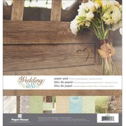 "Paper House Double-Sided Paper Pad, 12"" x 12"", 24pk, Wedding Day"