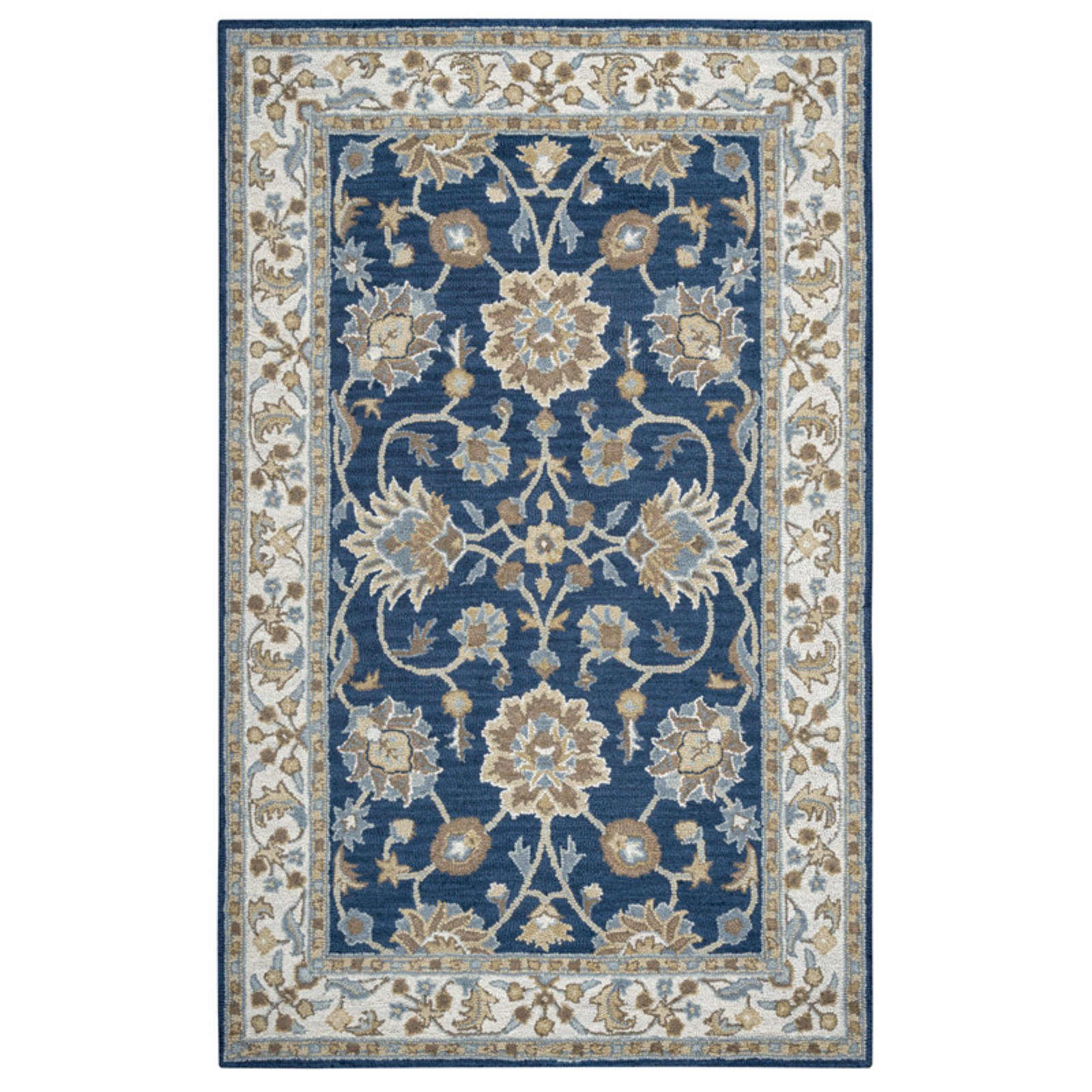 Rizzy Rugs Ashlyn Navy/Ivory Floral Area Rug