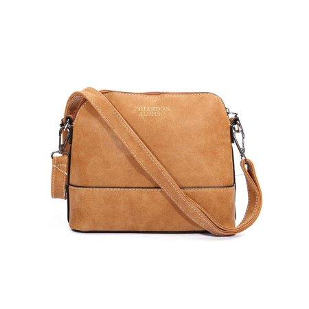b053f286938 Meigar Women's Soft Leather Fashion Cross Body Shoulder Bag Mini Shell Bag