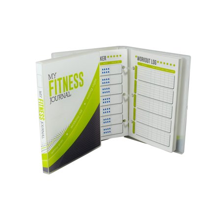 diet and fitness tracking journal 26 weeks of logs walmart com